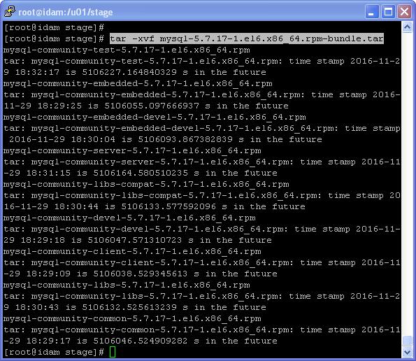 install mysql 5.7