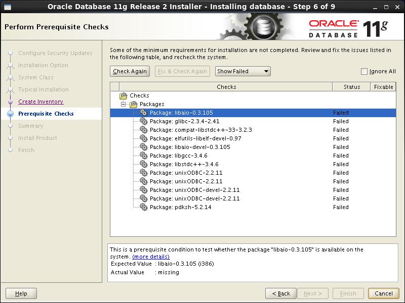 Oracle database 11gr2 (11 2 0 1) installation on Linux 6 (RHEL6