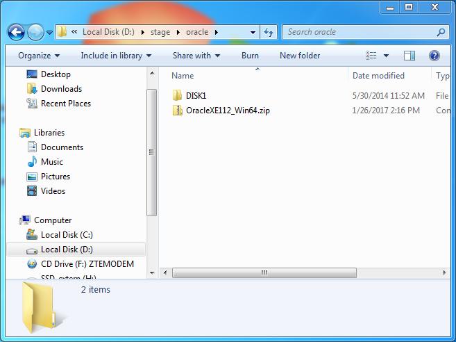 Oracle database 11gr2 (11 2 0 1) installation on Windows