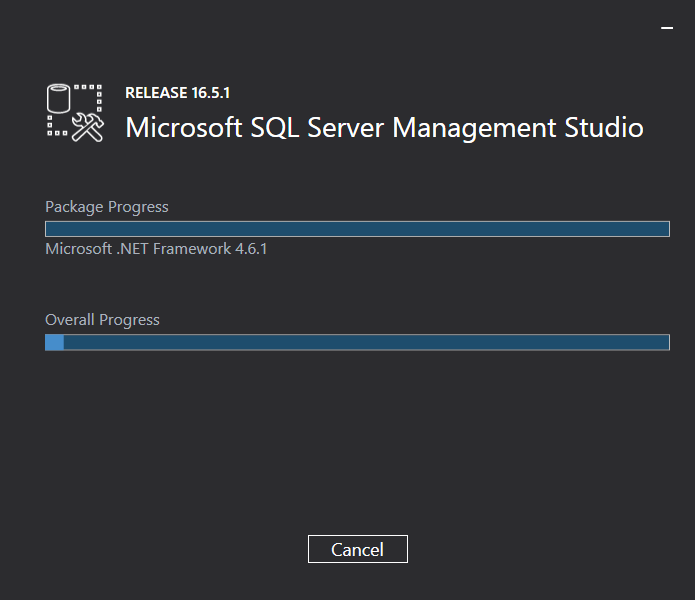 Microsoft SQL Server Management Studio installation: downloading & installing