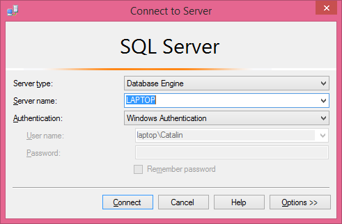 Microsoft SQL Server Management Studio installation: testing
