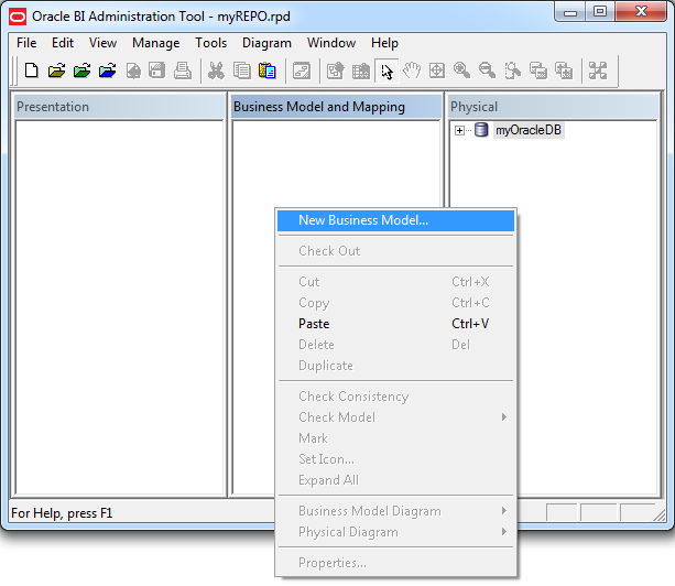 Creating a Business Model in OBIEE 12c