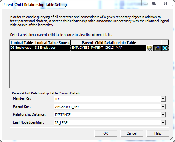 Create a Logical Dimension with Parent-Child Hierarchy into OBIEE