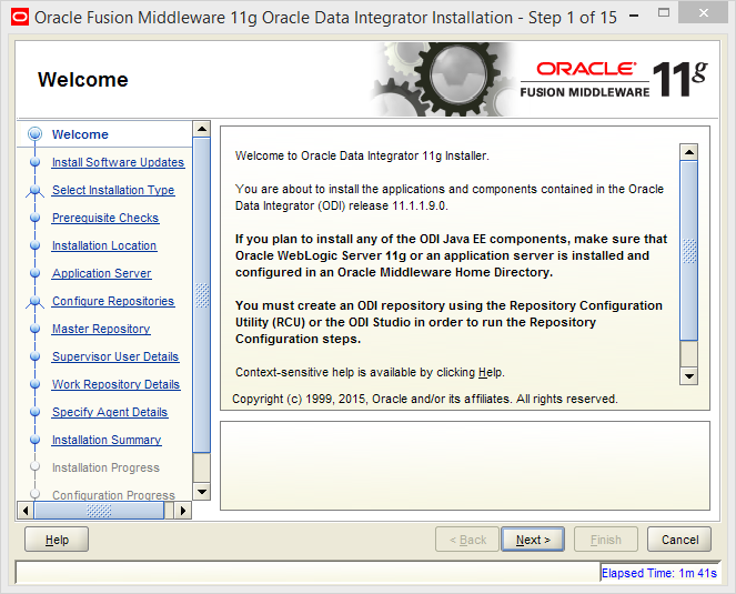 Install Java EE Agent in ODI 11g: welcome