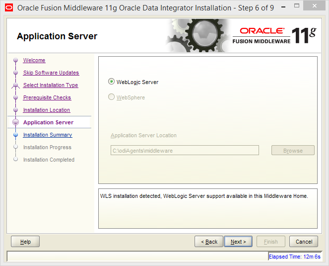 Install Java EE Agent in ODI 11g: application server