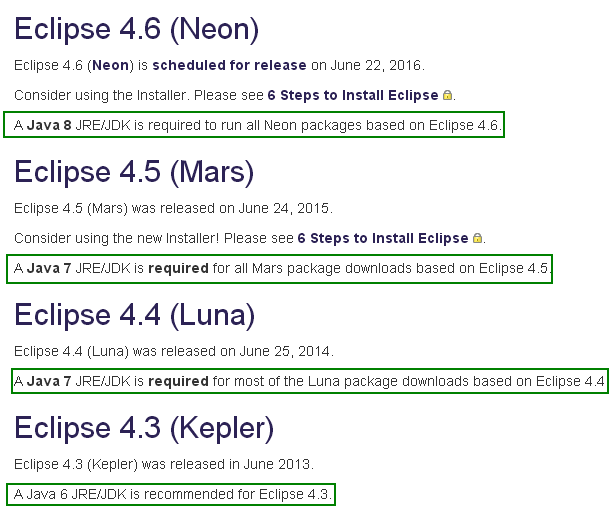 How we can choose the Eclipse tool version for your Java development