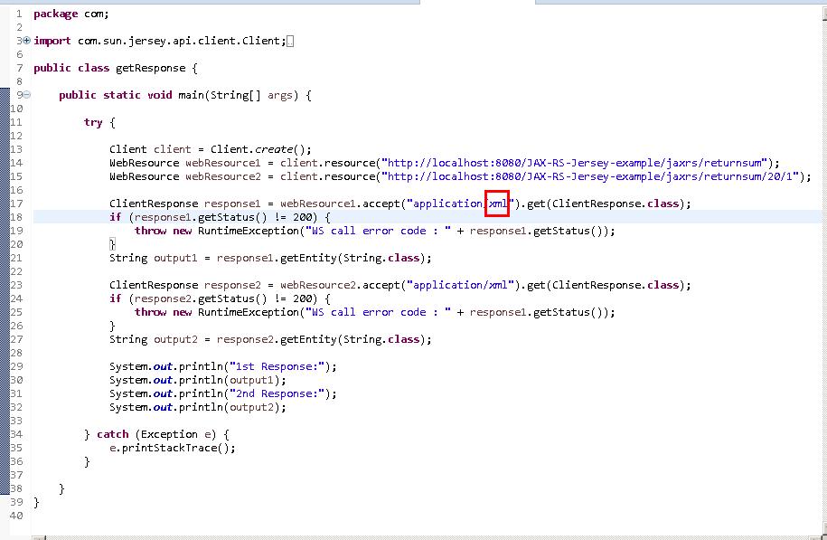 Create a Java RESTful Web Service Client using Jersey (JAX