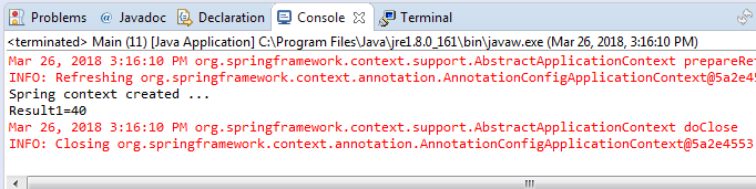 Spring context configuration using XML file (example) : configuration xml file