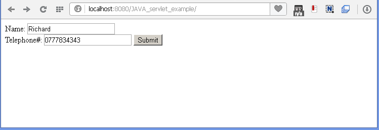 Java Filter example : html page.