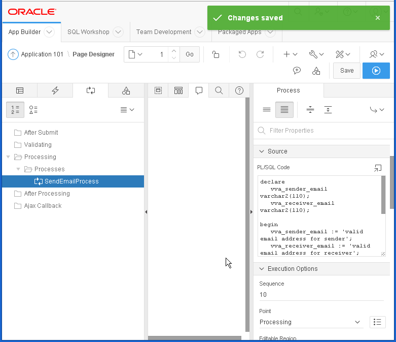 send email from Oracle APEX : process