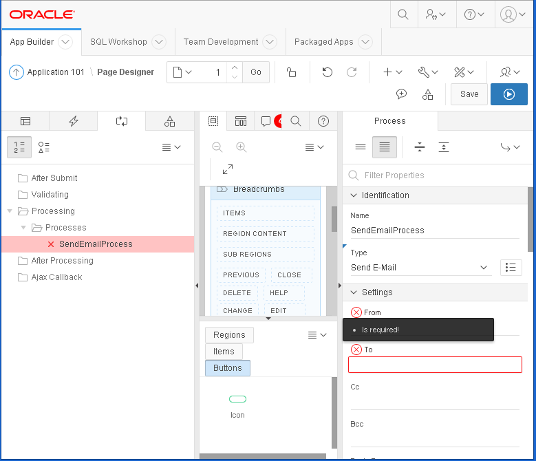 send email from Oracle APEX : APEX 5 new feature