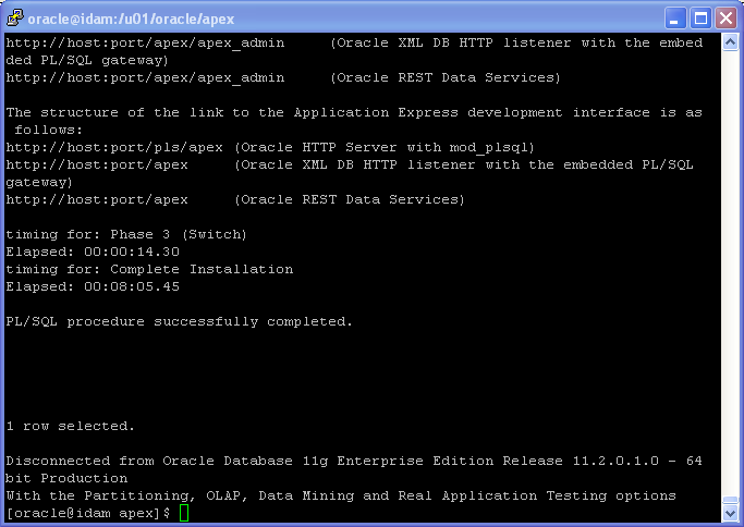 Oracle APEX 5.1 Installation on Linux - using HTTP Server (OHS): Oracle APEX 5 Installation