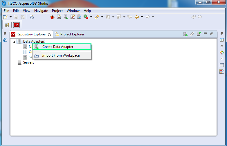 Add a JDBC Driver for Data Adapter for an Oracle database for Jasper