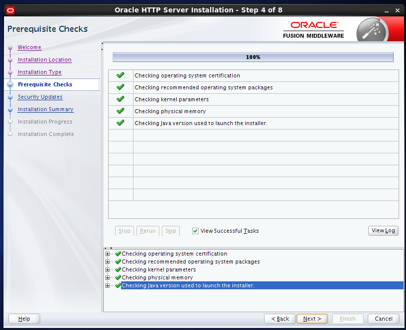 install Oracle HTTP Server (OHS) 12.1.2 : prerequisites check