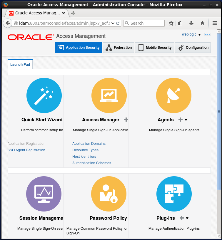 Create Oracle Access Manager (OAM) Resource: Administration Console