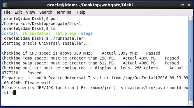 Oracle 11g WebGate Installation : how to install Oracle