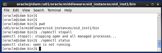 Stop Oracle Internet Directory Services : stop OID processes