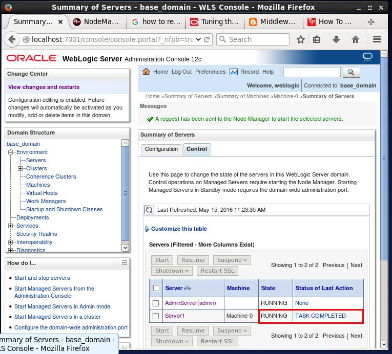 How to start/ stop (shutdown) the Oracle WebLogic servers (admin server &  managed server)