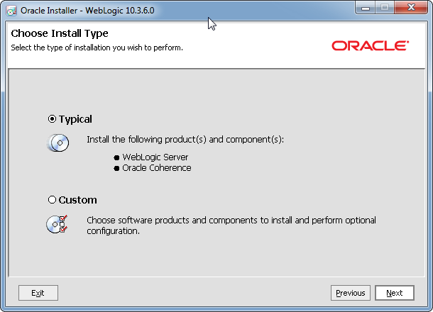 Oracle WebLogic 10 3 6 installation on Windows (32 bit and 64 bit